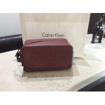 Bolsa Cartera Mariconera Calvin Klein Vino Rojo