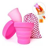 Copa Menstrual Certificada Fda + Vaso Esterilizador + Bolsa Tela + Regalo · Íntima Ecológica Higiene Femenina Reusable