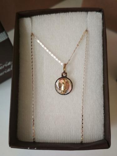 dc4773fdb3b3 Medalla Circular Y Cadena Oro 10k Bautizo Envio Gratis en venta en Hidalgo  Michoacán por sólo   1399