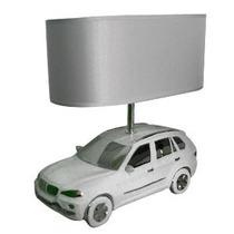 Lámpara De Buroe Diseño Camioneta Deportiva Blanca Con Plata