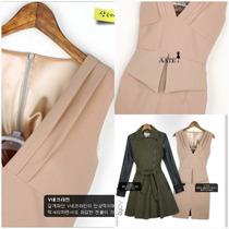 Vestido Color Rosa Palo, Cuello V Con Forro Interior