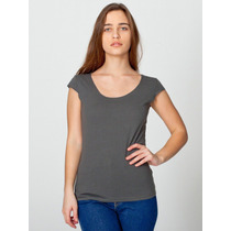American Apparel Playera Color Gris Obscuro