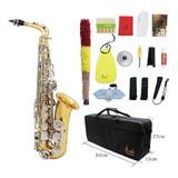 Lade Saxofon Alto Saxofon Laton Brillante Grabado Eb E-flat