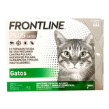 Caja De 3 Pipetas Frontline Plus Gatos