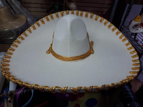 10 Sombrero Charro Hueso Oro Mariachi Escaramuz Mexicano 7581758c2ea