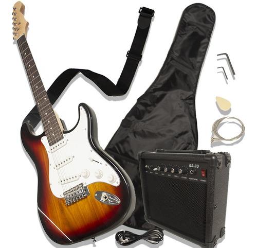Guitarra Eléctrica Con Amplificador Stratocaster Accesorios