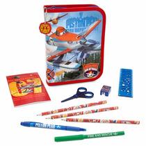 Disney Planes Aviones 2 Kit Lapícera Y Accesorios Escolares