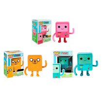 Funko Pop Set 3 Bmo Rosa Jmo Y Metalico Bemo Adventure Time