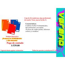 Caja De 36 Cuadernos, Profesional, De 7mm, Marca Scribe ®.