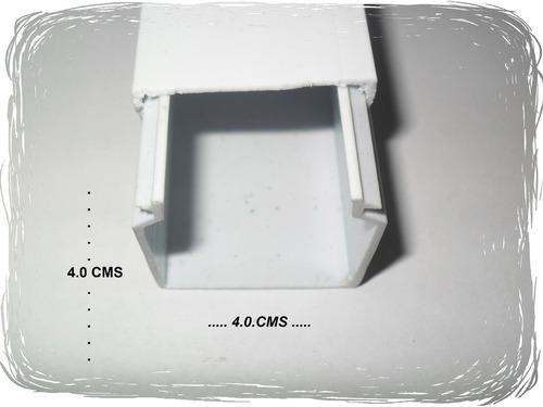 Canaleta de pvc para sistemas de canalizacion y fijacion - Precio canaleta pvc ...