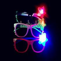 10 Lentes Led Luminosos Luz Kitty Neon Fiesta Boda Rave Xv