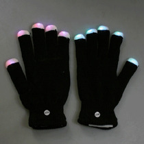 Guantes Led Luminosos, 7 Modos De Color, Pilas Extra, Rm4