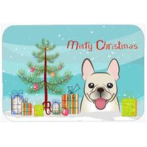 Árbol De Navidad Y Bulldog Francés De Cocina O Baño Mat 2