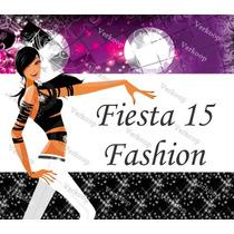 Kit Imprimible 15 Años Fashion Invitaciones Tarjetas Frames