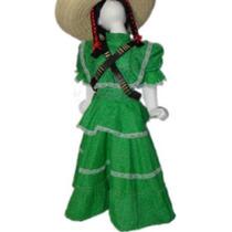 Disfraz Vestido Adelita Revolución Mexicana Para Niña En