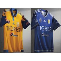 Jersey Adidas Del Tigres Uanl De Visita Azul 2015