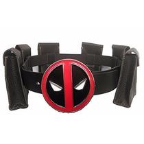 Cinturon Hombre Deadpool Cosplay Con Hebilla De Metal