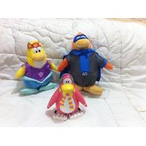 3 Pinguinos Del Club Penguin De Disney De Peluche Y Vinilo