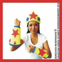 Sombrero Espuma Mujer Maravilla Boda Fiesta Xv Lentes Peluca