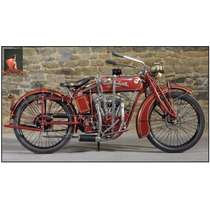 Lienzo, Tela, Motocicleta Indian 40 X 80 Cm