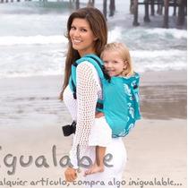 Portador Para Bebes Lillebaby Azul Claro Con Iconos