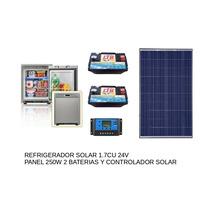 Refrigerador Solar Solar 24v Con Bateria Panel Y Controlador