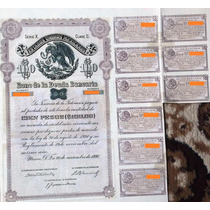 Bono De La Deuda Bancaria, Serie X Clase C. $100 Pesos, 1930