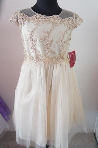Vestido Dorado Ampon Para Niña En Venta En Saltillo Coahuila