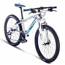 Alubike Bicicleta Mtb Dragon Fly R-24 21v. Bco-c/azul