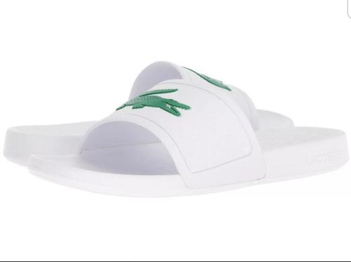 601fabcc2a7 Sandalia Lacoste Hombre Original Blanca Elegante Playa