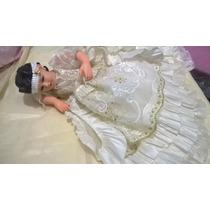 Divina Infantita Con Vestido En Shangtung 40cm Resina Fina