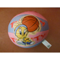 Balon Peluche Looneytunes Piolin Tweety Souvenir Basketball