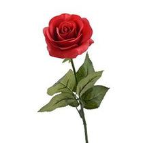 Louis Jardín 17 Artificial Flores Fake Rose - Rojo