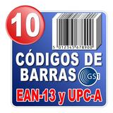 10 Códigos De Barras Ean Y Upc Universal Gs1 Garantizado