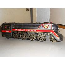 Juguete Antiguo Tren De Hojalata De Los Años 60s