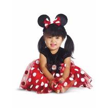 Disfraz De Minnie Mouse Vestido Rojo Para Niñas Fiesta