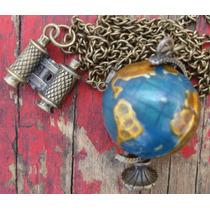 Collar Vintage Globo Terráqueo $120
