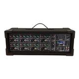 Mezcladora Con Amplificador De 8 Ch 3500w Usb Bluetooth 1408