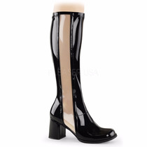 Bota Dama Pleaser Funtasma Gogo 303 Color Negro Y Blanco