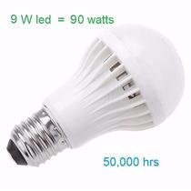 Foco Led 9 Watts = 90 Watts Incandescente Luz Blanca Nuevo