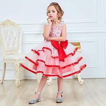 08404f169 Vestido Para Niña Fiesta Boda Xv Princesa Rojo Moño en venta en ...