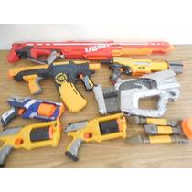 Lote 7 Pistolas Nerf Refacciones No Sirven E363