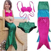 comprar online 1161a 7d115 Traje De Baño Sirenita Con Cola Disfraz Envío Incluido!! en ...