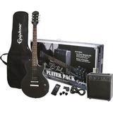 Paquete De Guitarra EpiPhone Les Paul Negro Precio Promocion Con Envio Gratis !!
