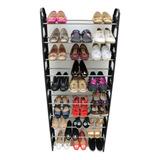 Zapatera Organizador Rack 10 Niveles Facil De Armar 30 Pares Zapatos Modular