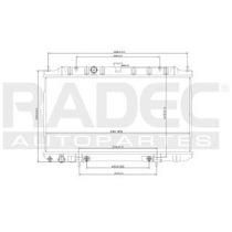 Radiador Nissan Sentra 2000-2001-2002 L4 1.8 Lts Automatico