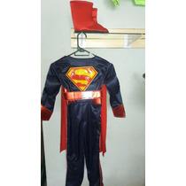 Disfraz Superman Traje Superheroe Capa Tallas Bebe Niño