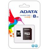 Adata Memoria Micro Sd Hc 8gb Clase 4 Celulares 4mb/s