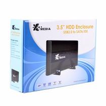 Gabinete Para Disco Duro 3.5 Xmedia Sata Externo Usb Laptop