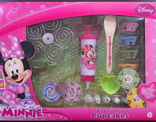 Juguete Kit Para Decorar Cupcakes Disney Minnie Mouse En